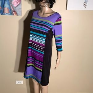 "AA Studio Size 8 Striped Bodycon Dress Length 36"""